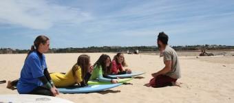 Surf-Lektionen...