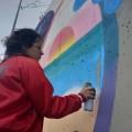 Mural com Kruella D'Enfer