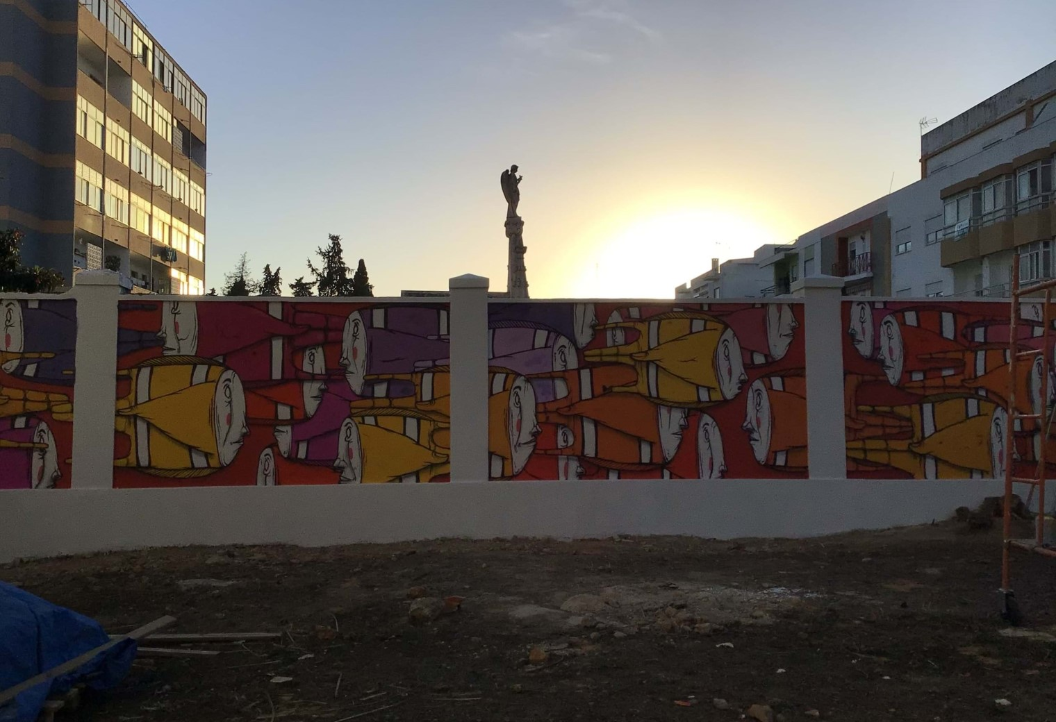 Mural with Gonçalo MAR