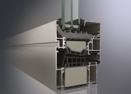 perfil de alumínio com corte térmico