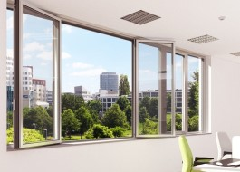window aluminium with thermic rupture schuco